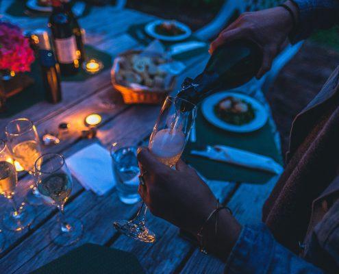 cena tra amici agriturismo